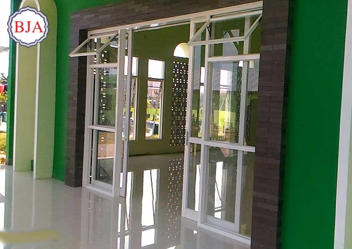 pintu aluminium masjid