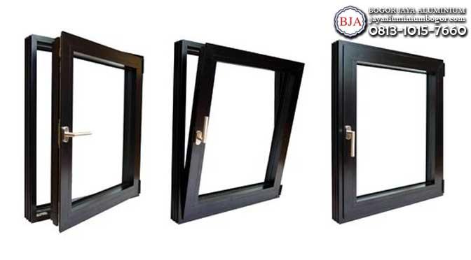 Jendela Kaca Frame Aluminium