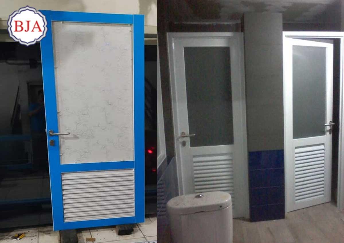 Pintu Kamar Mandi Aluminium Jalusi